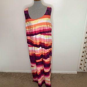 ⭐️3/$25⭐️ Avenue tiered striped maxi dress